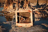 Broken computer monitor at Bombay Beach, Salton Sea, California