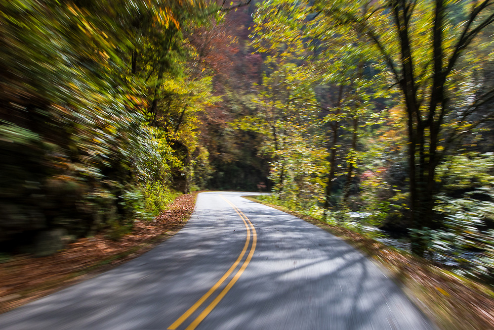 October 11, 2017: The drive to Cades Cove.