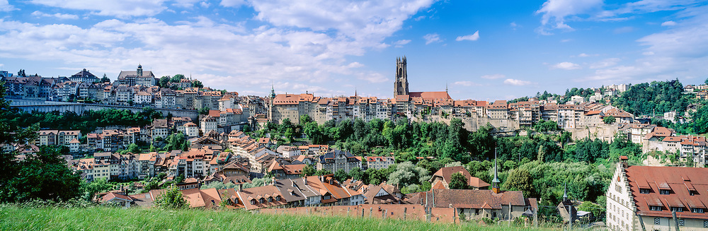 Old city of Fribourg, St-Nicolas cathedral, Switzerland
