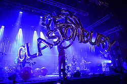 EDITORS NOTE LANGUAGE The Flaming Lips performing on The Park Stage at Glastonbury Festival, at Worthy Farm in Somerset.