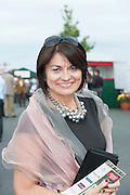 28/07/2014 Senator  Fidelma Healy Eames celebrates at the Galway Summer Racing Festival at Ballybrit in Galway City .  Photo:Andrew Downes