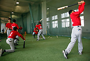 Under the supervision of assistant coach Charlie Iacono, players take up batting practice at a summer training camp run by Major League Baseball Wuxi, China, on 19 August, 2010.  Targeting teenagers between the ade of 12-15, the league hopes to use the camp to groom potential baseball talent in China and in the long term increase the popularity of the sport in the world's most populous country.