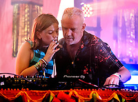 Fat Girl Slim( Nelly Cook) on the Bollywood stage,  Camp Bestival for her first ever gig with a little help from her father Fatboy Slim