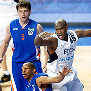 Efes Pilsen's Erwin DUDLEY (R) during their Turkish Basketball league match Efes Pilsen between Mersin BSB at the Sinan Erdem Arena in Istanbul Turkey on Saturday 19 March 2011. Photo by TURKPIX