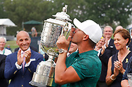 Brooks Koepka (USA) kisses the trophy after winning the 100th PGA Championship at Bellerive Country Club, St. Louis, Missouri, USA. 8/12/2018.<br /> Picture: Golffile.ie | Brian Spurlock<br /> <br /> All photo usage must carry mandatory copyright credit (© Golffile | Brian Spurlock)