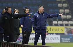 Peterborough United Manager Darren Ferguson on the touchline alongside Chorley manager Jamie Vermiglio - Mandatory by-line: Joe Dent/JMP - 28/11/2020 - FOOTBALL - Weston Homes Stadium - Peterborough, England - Peterborough United v Chorley - Emirates FA Cup second round