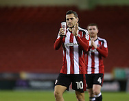 Billy Sharp of Sheffield Utd applauds the fans during the English League One match at Bramall Lane Stadium, Sheffield. Picture date: December 10th, 2016. Pic Simon Bellis/Sportimage