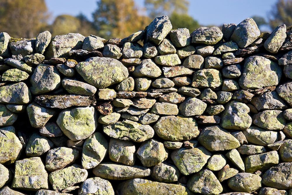 Dry-stone wall, Lake District, England, United Kingdom
