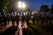 Protestors and Police face off in front of the White House after the death of George Floyd at the hands of Minneapolis Police in Washington, D.C. on May 31, 2020.