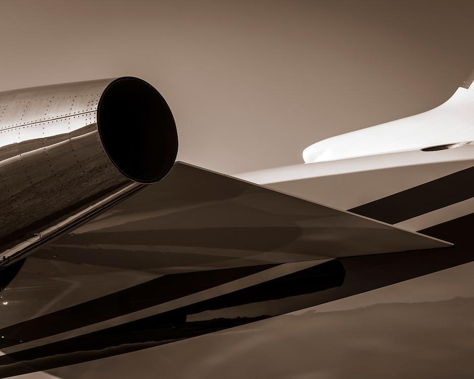 Detail of a Challenger 605, photographed at Kalamazoo International Airport, Michigan.