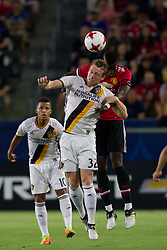 July 15, 2017 - Carson, California, U.S - Manchester United M Paul Pogba (6) and Los Angeles Galaxy F Jack McBean (32) in action during the summer friendly between Manchester United and the Los Angeles Galaxy at the StubHub Center. (Credit Image: © Brandon Parry via ZUMA Wire)