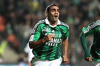 FOOTBALL - FRENCH CHAMPIONSHIP 2011/2012 - L1 - AS SAINT ETIENNE v MONTPELLIER HSC  - 6/11/2011 - PHOTO EDDY LEMAISTRE / DPPI - JOY OF BANEL NICOLITA (ASSE)  AFTER HIS GOAL