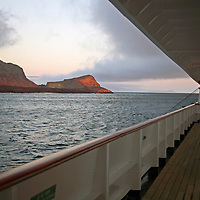 South America, Ecuador, Galapagos Islands. Island scenery from the  m/v Galapagos Explorer II.