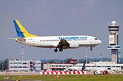 Tayaran Jet Boeing 737-330 (LZ-TYR) at Malpensa (MXP / LIMC), Milan, Italy