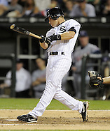 CHICAGO - JUNE 05:  Gordon Beckham #15 of the Chicago White Sox bats against the Cleveland Indians on June 5, 2009 at U.S. Cellular Field in Chicago, Illinois.  The Indians defeated the White Sox 6-0.  (Photo by Ron Vesely)