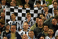 Photo: Scott Heavey, Digitalsport<br /> NORWAY ONLY<br /> <br /> Olimpique Marseille v Newcastle United. UEFA Cup Semi Final, Second Leg. 06/05/2004.<br /> Dejected Newcastle fans