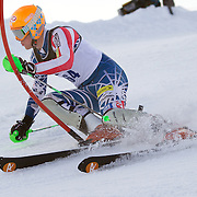 Ryan Cochran-Siegle, USA, in action during the Men's Slalom event during the Winter Games at Cardrona, Wanaka, New Zealand, 24th August 2011. Photo Tim Clayton...