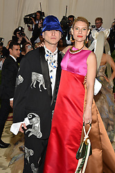 Actress Claire Danes and guest attending the Costume Institute Benefit at The Metropolitan Museum of Art celebrating the opening of Heavenly Bodies: Fashion and the Catholic Imagination. The Metropolitan Museum of Art, New York City, New York, May 7, 2018. Photo by Lionel Hahn/ABACAPRESS.COM