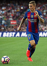 August 10, 2016 - Barcelona, Spain - Lucas Digne during the match corresponding to the Joan Gamper Trophy, played at the Camp Nou stadiium, on august 10, 2016. (Credit Image: © Joan Valls/NurPhoto via ZUMA Press)