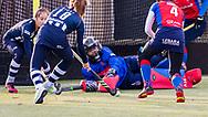BILTHOVEN -  Hoofdklasse competitiewedstrijd dames, SCHC v hdm, seizoen 2020-2021.<br /> Foto: Keeper Alexandra Heerbaart (SCHC) houdt het doel schoon