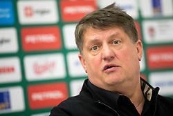 Roman Lisac, director when Jure Zdovc has been introduced as a new coach of KK Petrol Olimpija, on February 20, 2019 in Arena Stozice, Ljubljana, Slovenia. Photo by Vid Ponikvar / Sportida