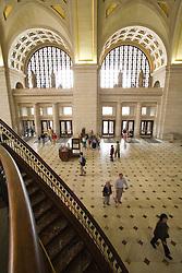 Interior of Union Station, Washington D.C. (District of Columbia), United States