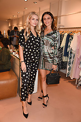 Left to right, Lottie Moss and Emily Blackwell at launch of Bimba Y Lola, 295 Brompton Road, London England. 26 April 2018.