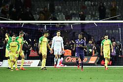 January 17, 2018 - Toulouse, France - Penalty derniere minute de jeu pour Toulouse inscrit par Max Gradel (Credit Image: © Panoramic via ZUMA Press)