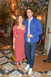 Niomi Smart and Joe Woodward at The Ivy Chelsea Garden Summer Party ,The Ivy Chelsea Garden, King's Road, London, England. 14 May 2019. <br /> <br /> ***For fees please contact us prior to publication***