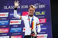 Podium, Time Trial Men 45,7 km, Maximilian Schachmann (Germany) Bronze medal, during the Road Cycling European Championships Glasgow 2018, in Glasgow City Centre and metropolitan areas Great Britain, Day 7, on August 8, 2018 - photo Luca Bettini / BettiniPhoto / ProSportsImages / DPPI<br /> - restriction - Netherlands out, Belgium out, Spain out, Italy out