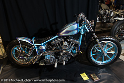 Custom Harley-Davidson Shovelhead at the Annual Mooneyes Yokohama Hot Rod and Custom Show. Japan. Sunday, December 7, 2014. Photograph ©2014 Michael Lichter.