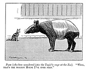 """Puss (who has wandered into the tapir's cage at the zoo). """"Well, that's the biggest mouse I've ever seen."""""""