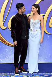 Mena Massoud and Naomi Scott attending the Aladdin European Premiere held at the ODEON Luxe Leicester Square, London