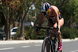 Rachel Klamer of Netherlands during the Elite Women race of the Discovery Triathlon World Cup Cape Town leg held at Green Point in Cape Town, South Africa on the 11th February 2017.<br /> <br /> Photo by Shaun Roy/RealTime Images
