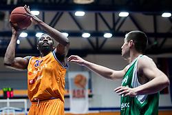 John Florveus KK Helios Suns during 9. round of Slovenian national championship between teams Helios Suns and Zlatorog Lasko in Sport Hall Domzale on 30. November 2019, Domzale, Slovenija. Grega Valancic / Sportida