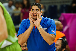 Orlando Antigua, head coach of Dominican Republic during basketball match between National Teams of Slovenia and Dominican Republic in Eight-finals of FIBA Basketball World Cup Spain 2014, on September 6, 2014 in Palau Sant Jordi, Barcelona, Spain. Photo by Tom Luksys  / Sportida.com <br /> ONLY FOR Slovenia, France