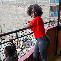 Lilian Mutheu is a mentor in the Dreams project in Nairobi, Kenya.<br /> <br /> DREAMS is an acronym for Determined, Resilient, Empowered, AIDS-free, Mentored, and Safe women. The project aims to empower girls and young women between 10 and 24 years around issues including HIV prevention, contraceptive methods, health, education and social economic intervention.<br /> <br /> Lilian, who has a young son Nevil, is familiar with some of the issues through her own personal experience and provides guidance and support to hundreds of young women and girls in the extensive slum of Makuru Kwa Njenga in Nairobi.