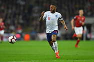 Raheem Sterling of England during the UEFA European 2020 Qualifier match between England and Czech Republic at Wembley Stadium, London, England on 22 March 2019.