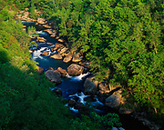 Little River flowing through Little River Canyon, Lookout Mountain, Little River National Preserve, Alabama.