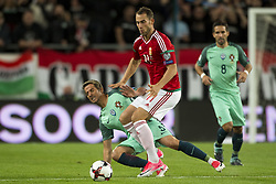 September 3, 2017 - Budapest, Hungary - Fabio Coentrao of Portugal and Marton Eppel of Hungary fight for the ball during the FIFA World Cup 2018 Qualifying Round match between Hungary and Portugal at Groupama Arena in Budapest, Hungary on September 3, 2017  (Credit Image: © Andrew Surma/NurPhoto via ZUMA Press)