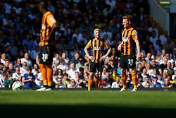 Paul McShane of Hull City looks dejected after Tottenham Hotspur score a goal to make it 2-0 - Photo mandatory by-line: Rogan Thomson/JMP - 07966 386802 - 16/05/2015 - SPORT - FOOTBALL - London, England - White Hart Lane - Tottenham Hotspur v Hull City - Barclays Premier League.
