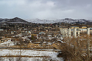 A general view shows the overview of the city of Spitak nearby residential area where the Rubble left by the Earthquake which struck 33 years. On Sunday, Jan 16, 2021, I visited the city which lies close to the epicentre of 1988 devastating Armenia quake, some 100 km (62 miles) north of the capital Yerevan. Spitak was entirely destroyed during the devastating earthquake, which is now rebuilt in a slightly different location. The earthquake that devastated Armenia in December 1988 killed 25,000 people and leaving half a million homeless. Like the tsunami that devastated southern Asia 16 years later, it focused the world's sympathy for unspeakable suffering and unleashed an outpouring of aid. (Photo/ Vudi Xhymshiti)