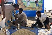 Lalibela, Ethiopia rural scene Villagers