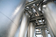Air flow chambers used in the isolation of pea protein are seen at the PURIS processing facility in Dawson, Minnesota, on Tuesday, June 8, 2021.