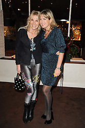 Left to right, INGRID TARRANT and PENNY SMITH at a party to celebrate the 40th anniversary of Julie's Bar & Restaurant, 135 Portland Road, London W11 on 18th November 2010.