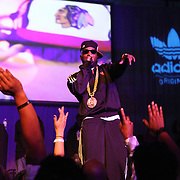 Young Jeezy performs at the adidas/Dwight Howard All Star Party on Friday, February 24, 2012 in Orlando, Florida. (Alex A. Menendez/AP Images for adidas.)