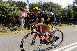 July 8, 2018 - La Roche-Sur-Yon, France - CHAVANEL Sylvain (FRA) of Direct Energie during stage 2 of the 105th edition of the 2018 Tour de France cycling race, a stage of 182.5 kms between Mouilleron - Saint-Germain and La Roche-Sur-Yon on July 08, 2018 in La Roche-Sur-Yon, France, 8/07/18 (Credit Image: © Panoramic via ZUMA Press)