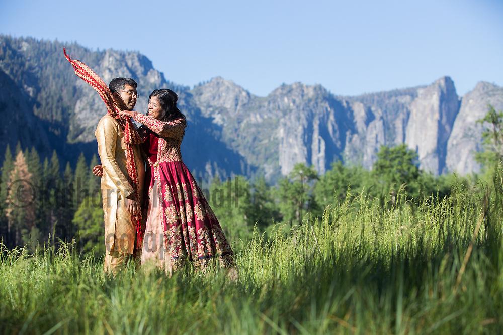 Engagement portait at Yosemite National Park
