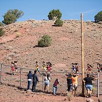 Cross Country varsity girls running the Heartbreak Classic at Navajo Pine High School, Saturday, Sept. 29, 2018 in Navajo.