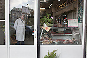 No client in this downtown butchery.
